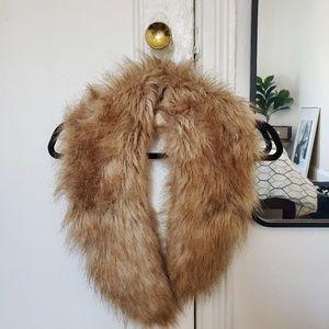 H&M faux fur collar
